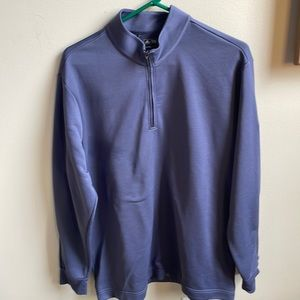 XL Adidas climalight golf 100% polyester 1/4zip golf jacket color pewter